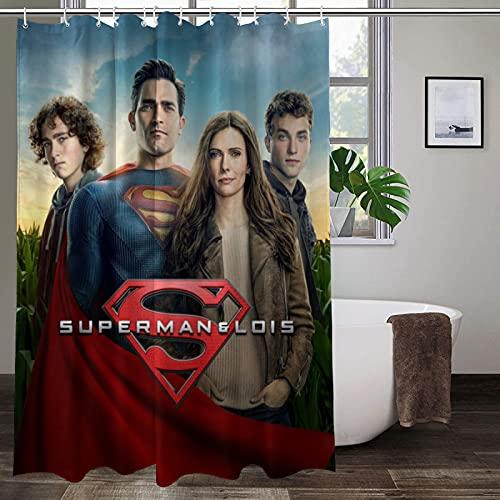Superman-Duschvorhang, langlebig, hohe Temperaturwiderstandsfähigkeit, bunte Duschvorhänge, wasserdicht, ungiftig