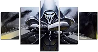 AtfArt 5 Piece Reaper Canvas Painting for Living Room Home Decor Canvas Art Wall Poster..