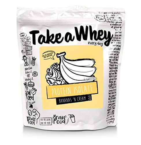 TAKE-A-WHEY Everyday Protein Isolate Bodybuilding Food Supplement, Banana Cream