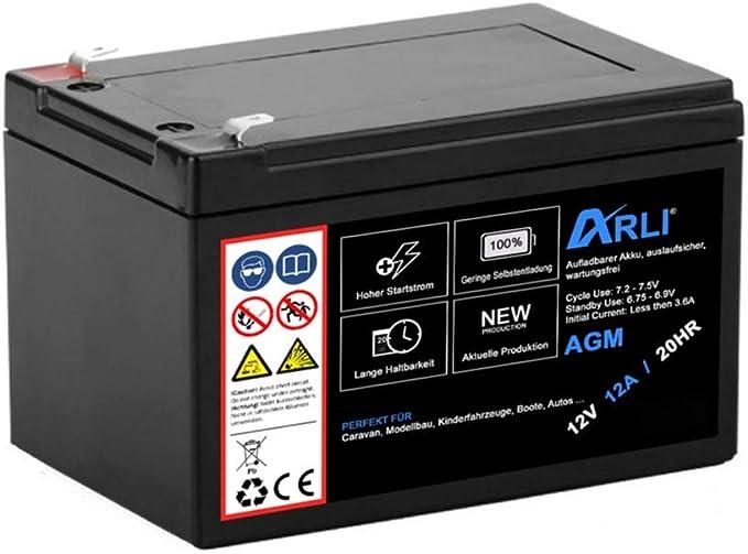 Akku Für Agm Blei 12v 7ah 20hr Batterie Glasfaservlies Elektronik