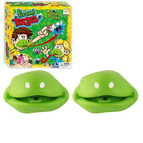 Xinjiashou Tic TAC Tongue Catch Bugs Juego Interactivo Joint Take Card-Eat Pest Car Juego Doble Juego De Mesa Juguete De Regalo para Niños Niñas