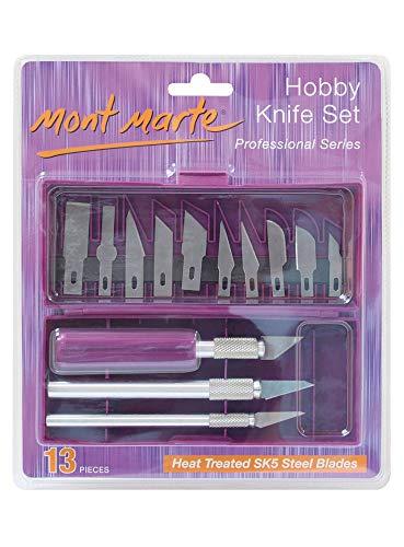 Mont Marte Hobby Knife Set SK5 Blades 13pce