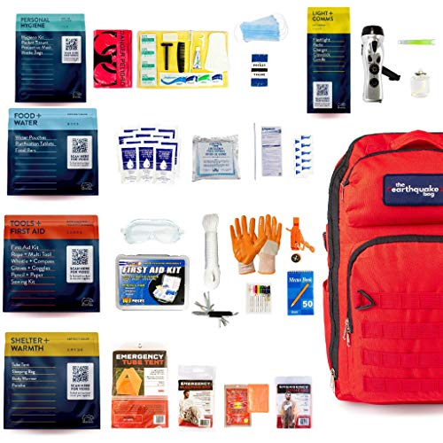 Complete Earthquake Bag - 3 Day Disaster Emergency Kit