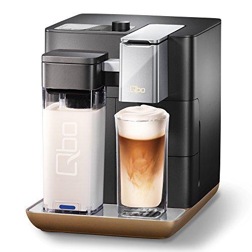 Tchibo Qbo You-Rista Kaffee Kapselmaschine inkl. Milchaufschäumer - Amazon Alexa kompatibel (Echo Dot) Ulimate Black matt