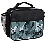 OPUX Insulated Lunch Box for Kids, Boys, Girls   Soft Leakproof Lunch Bag for Men Women   Reusable Durable Thermal Lunch Pail for School Work Office   Fit 6 Cans (Camo Green)