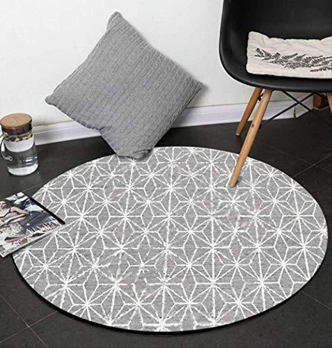 CFSMYT Teppiche,Wohnzimmer mit 3D-Muster runder Teppich Computer Sitzbereich Teppich Spielzelt Bodenmatte Garderobe Teppich und Teppich Durchmesser 40cm