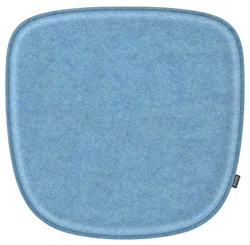 Feltd. Eco Filz Kissen geeignet für Vitra Eames Armchair DAW,DAR,DAX,RAR,DAL - 30 Farben - optional mit Antirutsch und gepolstert! (lichtblau)