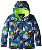 Quiksilver Jungen Snowboard Jacke Mission Printed Y, Huff Blue, XL
