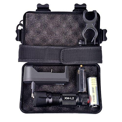 Styledress Taschenlampe akku led aufladbar flashlights lumens blitzlicht 10000LM X800 Tactical * Military L2 LED Taschenlampe Geschenkset waterproof ultrafire
