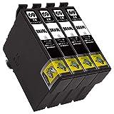 ICBK69 BK/ブラック 4本セット [エプソン用] 新互換インクカートリッジ 残量表示付き (最新型ICチップ付き) 【A.I.S製品】