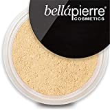 bellapierre Mineral Foundation SPF 15 Loose Finishing Powder | All-Natural Vegan & Cruelty Free Full Coverage Concealer | Hypoallergenic & Safe for All Skin Types | Oil & Talc Free - 0.32 Oz Ivory