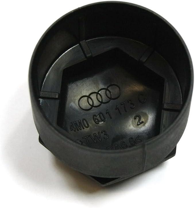 Original Audi Radschraubenkappe M14 Radschraube Diebstahlhemmend Grau Glänzend Auto