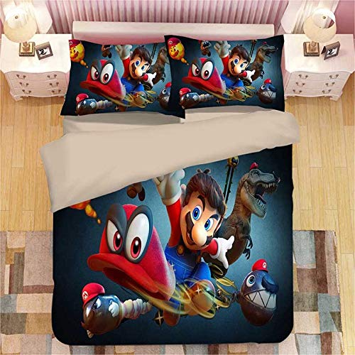 Liner Super Mario Odes 3D Duvet Cover Set, 5, 140x210cm