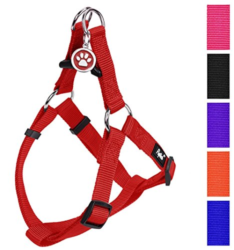 PUPTECK No Pull Dog Harness Adjustable Basic Step in Puppy Vest Outdoor Walking Chest Girth 14.8