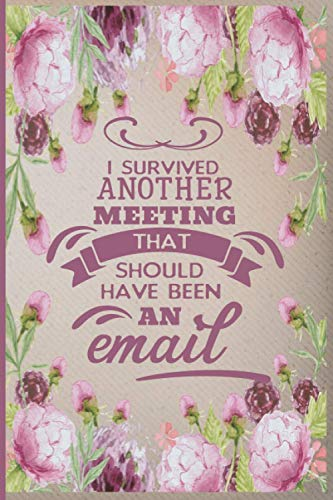 I Survived Another Meeting That Should Have Been An Email: Funny Coworker Office Notebook Journals, Ruled Unique Diary, Sarcastic Humor Journal, Gag ... appreciation gift, Blank Lined Journal.