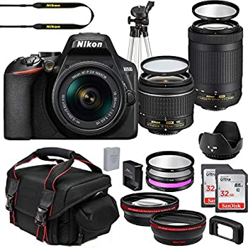 Nikon D3500 DX-Format DSLR Two Lens Import Kit with AF-P DX NIKKOR 18-55mm f/3.5-5.6G VR & AF-P DX NIKKOR 70-300mm f/4.5-6.3G ED + Deluxe Accessory Bundle Included Extra Lenses Memory Cards and More