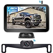 #LightningDeal AMTIFO W70 HD 1080P Wireless Backup Camera 7 Inch Monitor for Trucks,Cars,Vans,Campers,Hitch Rear View Camera Kit with Digital Stable Signal,DIY Guide Lines