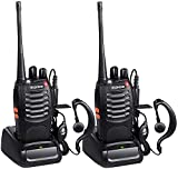 2 Pack Baofeng BF-888S Ham Two Way Radio, Walkie Talkie with Rechargeable Battery Headphone Wall Charger Long Range 16 Channels