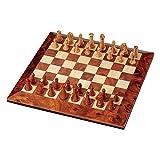 HEZHANG Juego de Ajedrez Juegos de Viajes a Los Adultos Juego de Ajedrez de Los Niños, Niños Adultos Clásicos Magnético Portátil de Viaje Chess Chiles Portátiles Tradicionales Juego de Ajedrez de Mad
