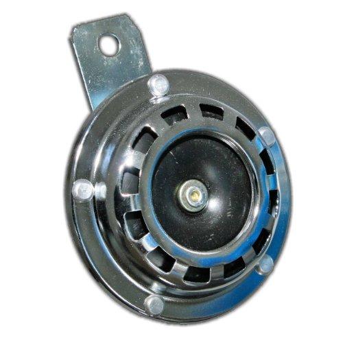 Old-Harvest 1 Signalhorn für 12Volt KfZ Hupe Chrom Autohupe Metall mit Halterung Horn KRAD Neu
