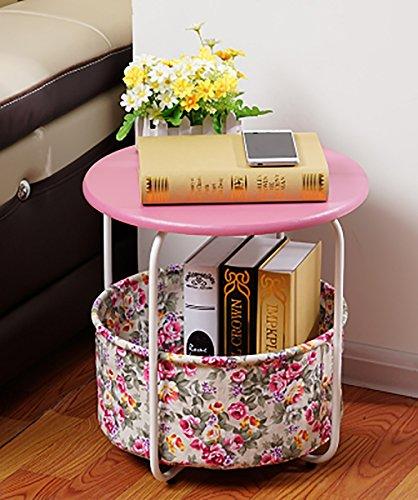 Couchtisch Woody Tisch Einfache moderne Mode Wohnzimmer Sofa Side Cabinet Schlafzimmer Nachttisch Zwei Schichten Mit Drei Ebenen ( Farbe : B , größe : 42*44cm )