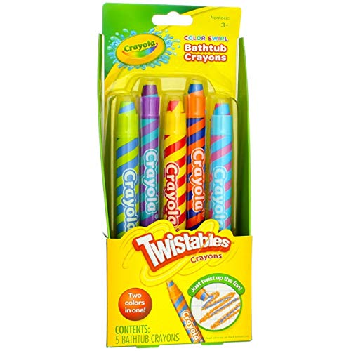 Play Visions Color Swirl Bathtub Twistables Crayons 5-Count per Pack (1-Pack)