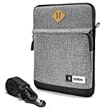 tomtoc 10.5-11 inch Tablet Sleeve Shoulder Bag for 11' iPad Pro 2020, 10.2' New iPad 2019, 10.5' 2019 iPad Air Retina, 10.5' iPad Pro, Samsung Galaxy Tab, Fit Pencil & Smart Keyboard,Grey
