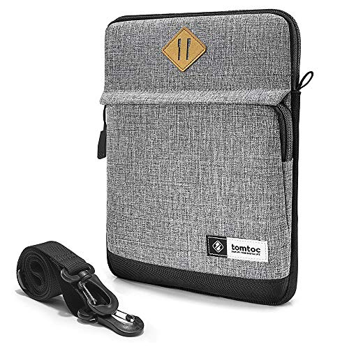 tomtoc Schultertasche Umhängetasche kompatibel mit 2018/2020 Neu iPad Pro 11 Zoll, iPad Air 2019, iPad Pro 10,5 Zoll, 10 Zoll Microsoft Surface Go, Tablette Hülle für Apple Pencil & Smart Keyboard