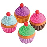 Lot Of 12 Pull Apart Assorted Color Cupcake Erasers