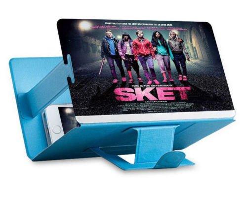 Universal portátil Arrugas Smartphone 3D Screen Magnifier para Todos los Tipos de Smartphones. Lupa de Aumento para Pantalla de Smartphone con Efecto 3D. Color Azul.