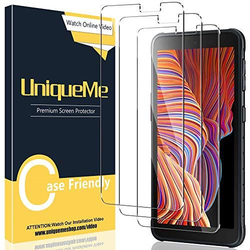 [3 Stück]UniqueMe Schutzfolie Kompatibel mit Samsung Galaxy Xcover 5 Panzerglas, [Einfache Installation] Gehärtetem Samsung Galaxy Xcover 5 Bildschirmschutzfolie.