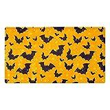 FURINKAZAN Happy Halloween Bat Pattern-01 - Alfombrilla de ducha antideslizante para bañera con agujeros de drenaje