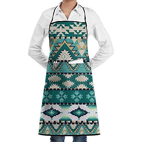 Katrine Store Antonia Montoya Verstellbare Latzschürze mit 2 Taschen, Kochschürzen für Frauen Männer Chef
