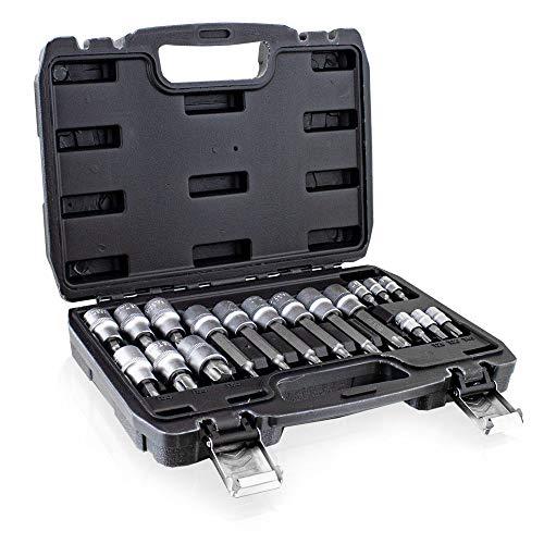 BITUXX® Nussatz 18 Teilig Torx Vielzahn Innen-Inbus Imbus Bit Stecknüsse Torx Nüsse Werkzeug Set