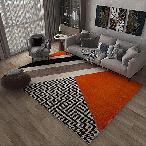 Alfombra Antideslizante Alfombras Que Se Pueden Fregar Naranja Negro Café Diseño Diseño Luz Lujo Lujo Sala de Estar Antideslizante Seguridad Alfombra Pasillo 120x160cm