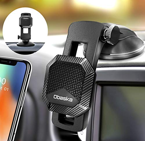 Obaska Magnetic Phone Car Mount, Universal Dashboard Phone Holder for Car Compatible with iPhone 12 11 Pro Xs Max XR X 8 7 Plus SE Samsung Galaxy Note S20 S10 S9 S8 & All Smartphones