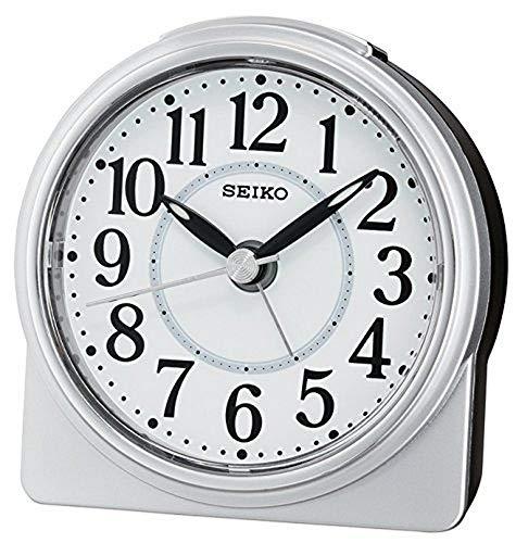 Seiko QHE137S Unisex Alarm Clock Analogue Silv