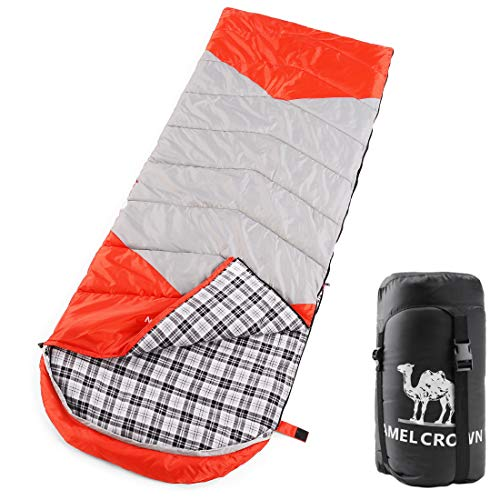 CAMEL CROWN Sleeping Bag - 4 Seasons Warm Cold Weather, Portable, Backpacking Hiking Camping Bag for Camping & Adventures