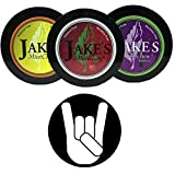 Jake's Mint Chew Cherry, BlackBerry, Kola 3 Can Variety Pack with DC Crafts Nation Skin Can Cover - Metal