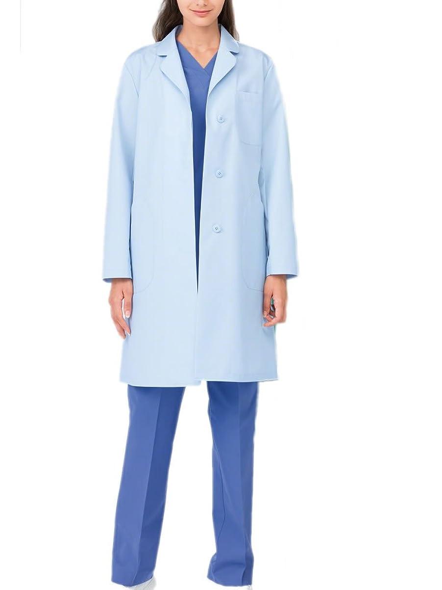 使用法こっそりにはまって(ナガイレーベン) NAGAILEBEN 女子 シングル 診察衣 長袖 白衣 EM-3035