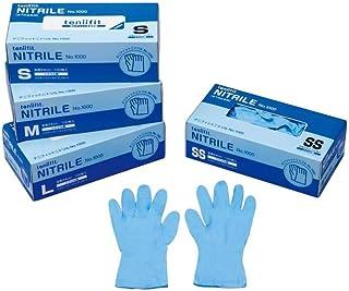 コクゴ teniifit NITRILE(手にフィットするニトリル手袋 No1000)L 100枚入