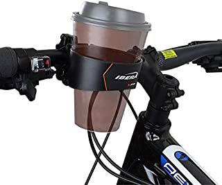 Ibera Bike Handlebar Cup Holder, Black with Multi-Way Mount for Commuters and Road bike
