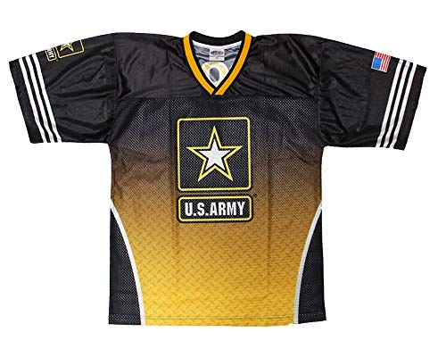 Sublimated Football Jersey U.S. Army (L) Black
