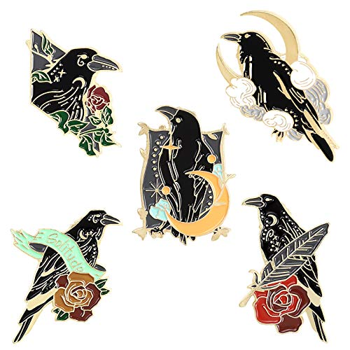 Black Crow Enamel Pins