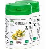 Millepertuis bio - Bioptimal - Complément Alimentaire - Bonne humeur Déprime Stress Anxiété Sommeil - Hypericine Hyperforine - 190mg/gélule - Fabriqué en France - Certifié par Ecocert - 2 x 60 gélules