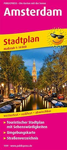 Amsterdam: Touristischer Stadtplan mit Sehenswürdigkeiten und Straßenverzeichnis. 1:14.000 (Stadtplan: SP)