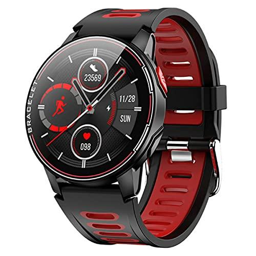 healthwen para L6 Reloj Inteligente IP68 Impermeable Deporte Hombres Mujeres Reloj Inteligente inalámbrico rastreador de Ejercicios para Android iOS Reloj Inteligente