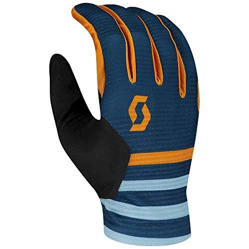 Jtoes Scott Ridance LF Handschuh für Motorcross / Mountainbike / Radfahren, Vollfinger-Paar Handschuhe, bestes MTB Leichtgewicht, Allzweck-Handschuh, Mondblau/Bernsteingelb, X-Small