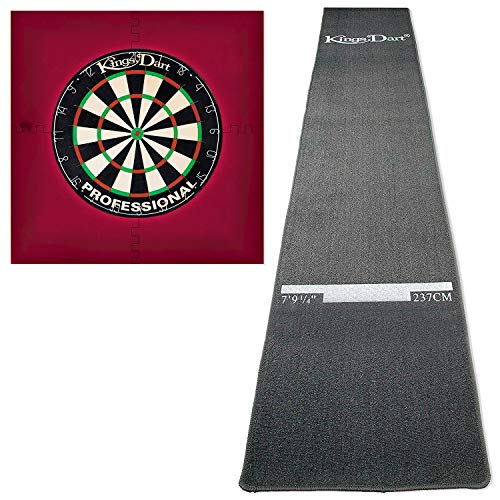 Kings Dart Dart-Set mit Turnier-Dartteppich