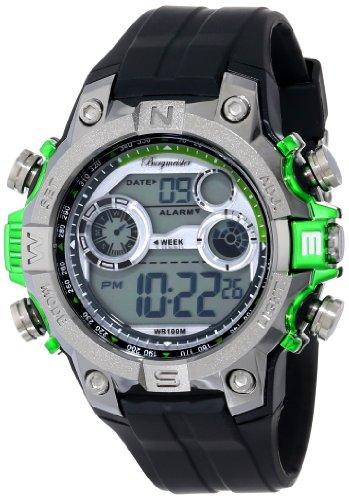 Burgmeister Armbanduhr für Herren mit Digital Anzeige, Quarz-Uhr und Silikonarmband, Wasserdichte mit zeitlosem, schickem Design - klassische, elegante Uhr für Männer - BM800-112D Digital Power